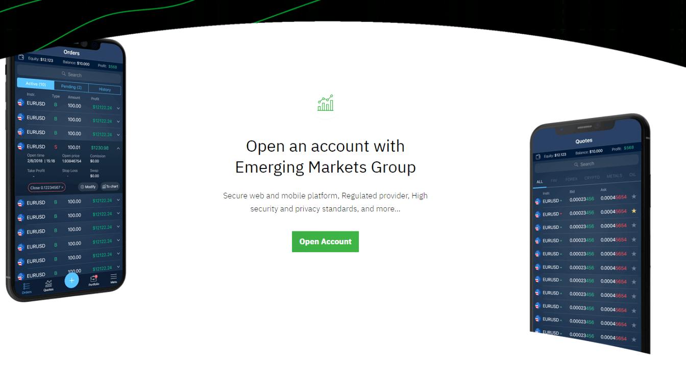 CFD-брокер Emerging Markets Group: отзывы и особенности компании